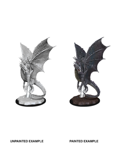 Young Silver Dragon: D&D Nolzur's Marvelous Unpainted Miniatures